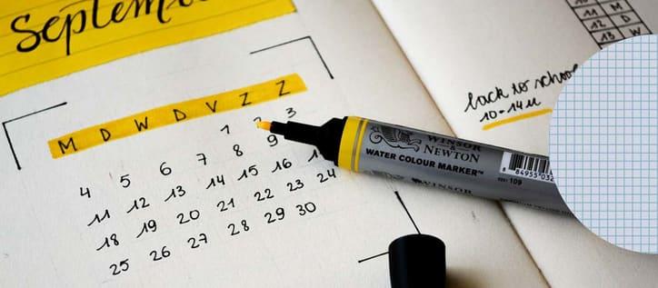 Hand drawn calendar
