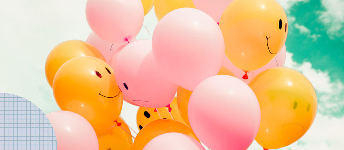 Balloons with smiles on them