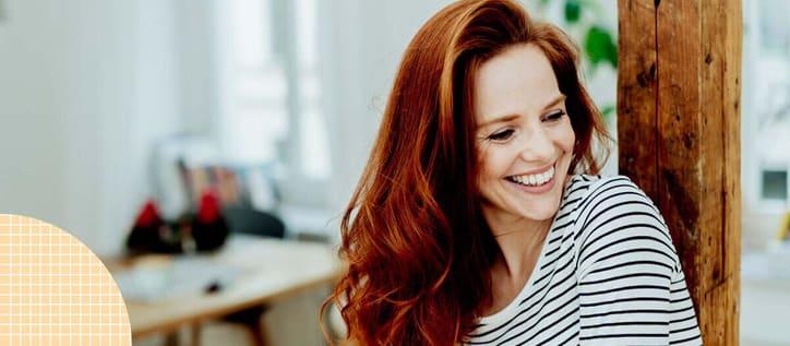 woman with veneers smiling